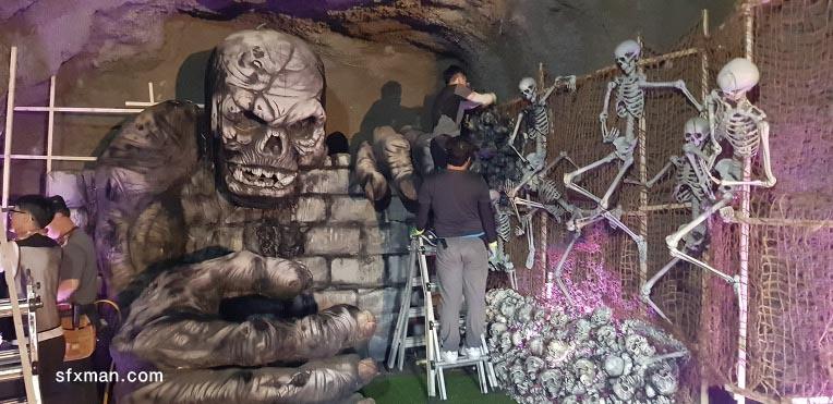 해골무덤- 오싹한 공포 체험 포토존
