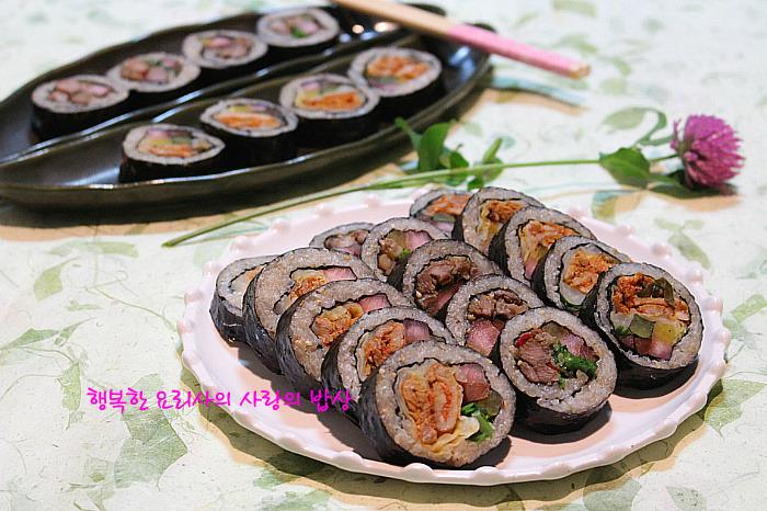 소풍시즌! 고기러버들을 위한 두가지 김밥 만들기