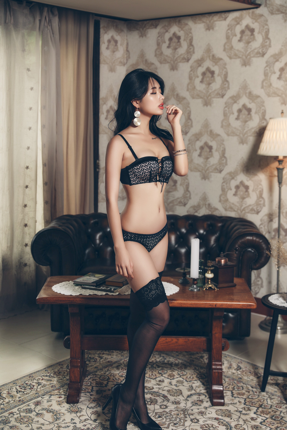 gorgeous Korean lingerie model - cute & sexy style