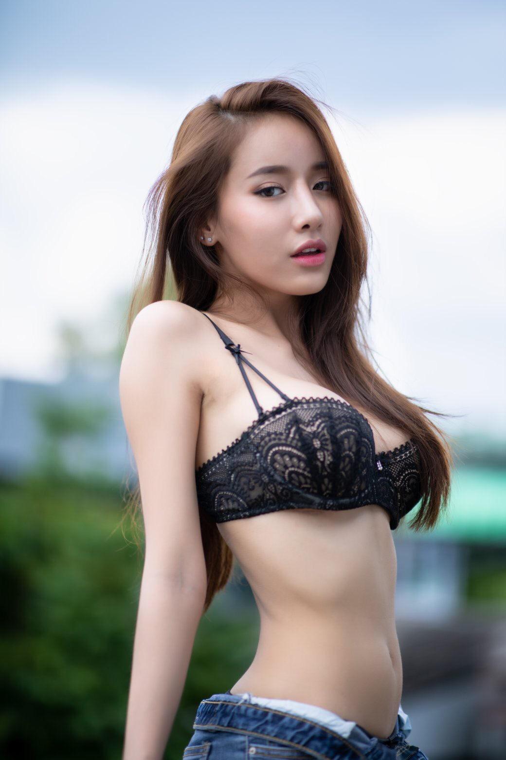 cool mood girl in lingerie